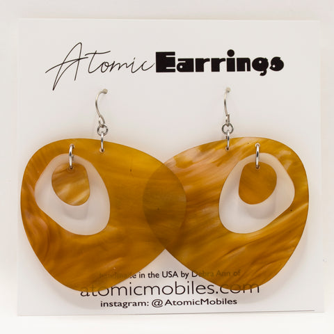The Googie Atomic Earrings by AtomicMobiles.com - midcentury modern inspired handmade earrings