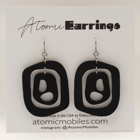 The Mid 20th Atomic Earrings by AtomicMobiles.com - midcentury modern inspired handmade earrings