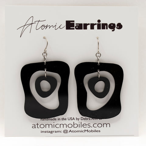 The MidMod Atomic Earrings by AtomicMobiles.com - midcentury modern inspired handmade earrings