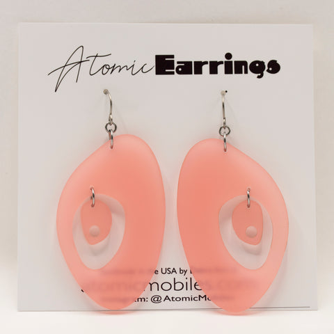 The Modernist Atomic Earrings by AtomicMobiles.com - midcentury modern inspired handmade earrings