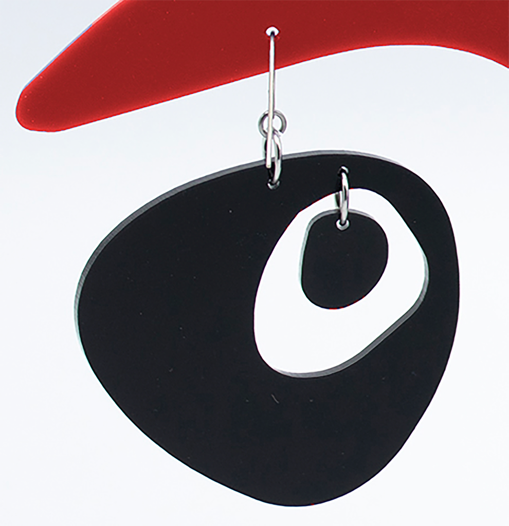Modern Googie Earring in Black by AtomicMobiles.com