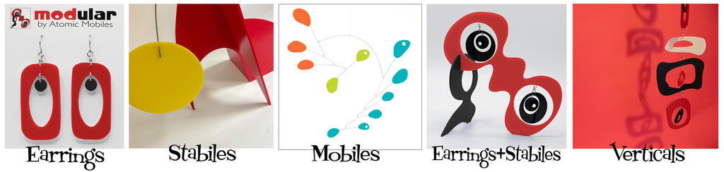 Atomic Mobiles Product Line - Mobiles | Stabiles | Verticals | Earrings | Earrings + Stabiles
