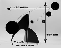 Measurements of The Modern Art Stabile Sculpture by AtomicMobiles.com