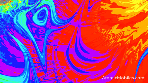 Free Zoom Virtual Background by AtomicMobiles.com in Bold Bright Colors