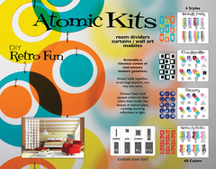 Centerfold for AtomicMobiles.com 2020 Art Catalog of Mid Century Modern Inspired Mobiles, Stabiles, Earrings, and Atomic Kits