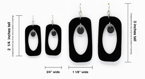 Beatnik Boho Statement earring Measurement Chart by AtomicMobiles.com