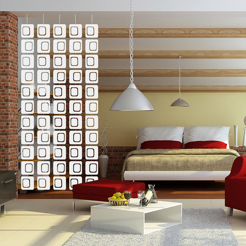 Pre-assembled room dividers, mobiles, curtains, and wall art by AtomicMobiles.com