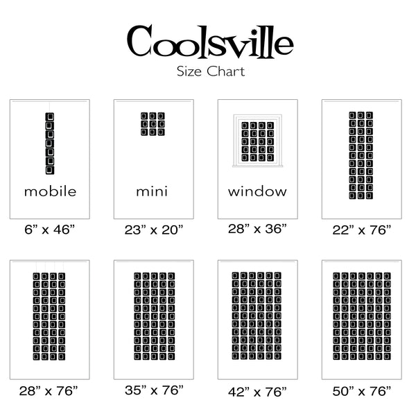 Coolsville Room Divider Size Chart by AtomicMobiles.com