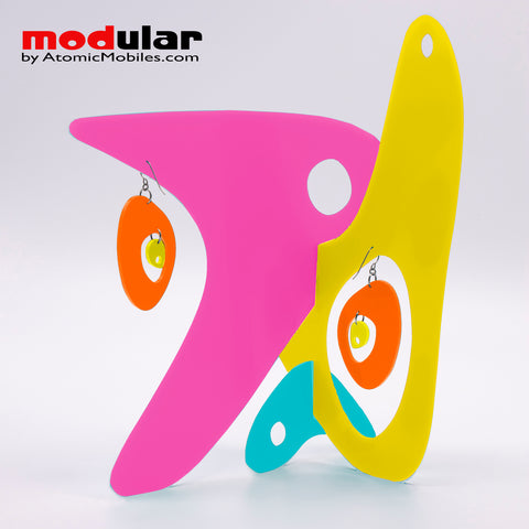MODular Stabile sculpture - modern kinetic art by AtomicMobiles.com