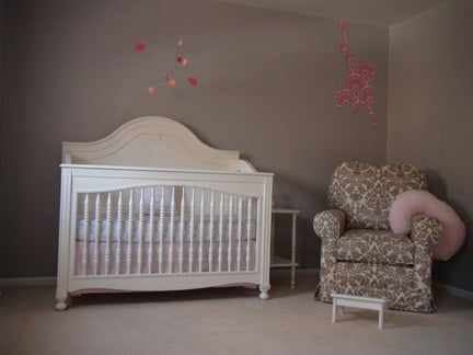 Mobile by AtomicMobiles.com in client's baby nursery - photo by client