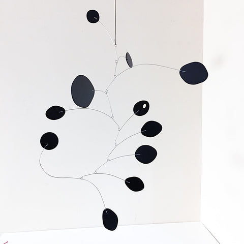 All Black MCM Mobile - Calder Inspired Hanging Art