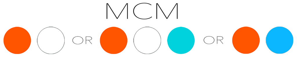 MCM Mid Century Modern Color Recipes of Orange, White, or Orange, White, and Aqua, or Orange and Blue for Atomic Hanging Art Mobiles, Room Dividers, and Kinetic Art Stabiles by AtomicMobiles.com