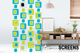 Gorgeous midcentury modern retro inspired room divider - Atomic Screens by AtomicMobiles.com