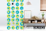 Groovy midcentury modern retro room divider - Atomic Screens by AtomicMobiles.com