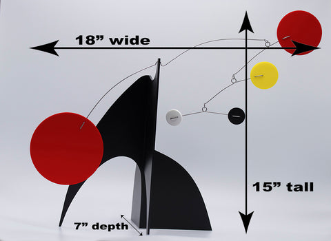 Measurements of The Modern Art Stabile by AtomicMobiles.com