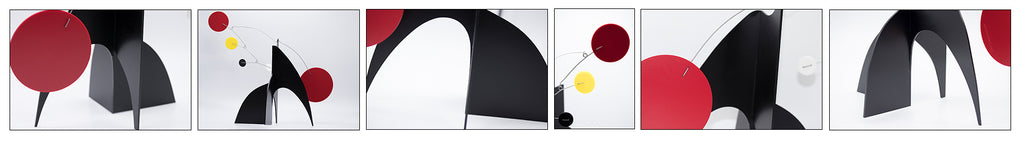 Multiple views of The Moderne Kinetic Art Stabile by AtomicMobiles.com