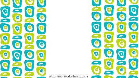 Free Retro Mid Century Modern Style Zoom Background by AtomicMobiles.com