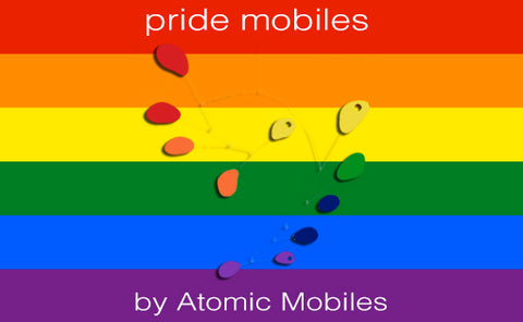 Pride Mobiles - celebrating LGBTQ Rainbow Pride - by AtomicMobiles.com