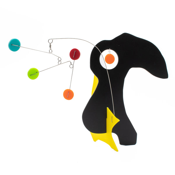 L'Oiseau - The Bird - cute animal inspired modern art stabiles sculptures by AtomicMobiles.com