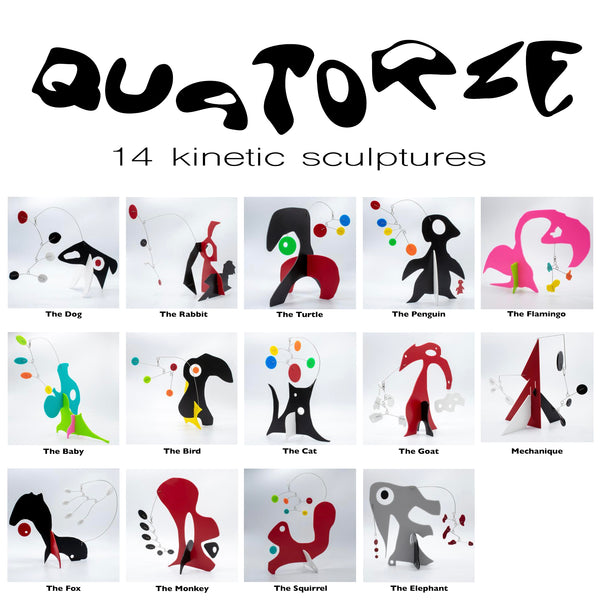 Quatorze Abstract Animal Sculpture Stabiles by AtomicMobiles.com