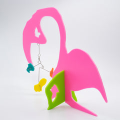 Le Flament - The Flamingo Abstract Modern Kinetic Art Sculpture Stabile by AtomicMobiles.com