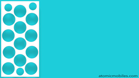 Free Mid Century Modern Style Zoom Background in aqua blue by AtomicMobiles.com
