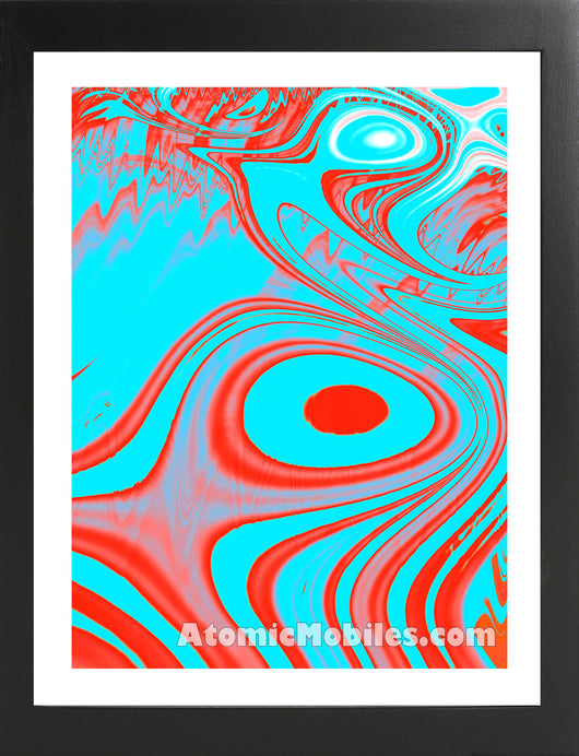 Atomic Print 27 - Bold Modern Abstract Art Giclee by AtomicMobiles.com