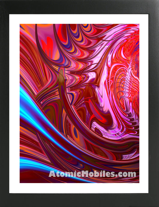 Atomic Print 30 - Bold Modern Abstract Art Giclee by AtomicMobiles.com