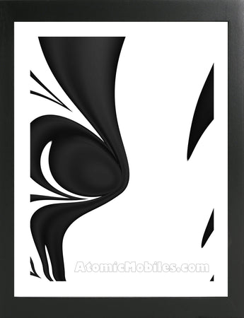 Atomic Print 31 - Bold Black And White Modern Abstract Art Giclee by AtomicMobiles.com