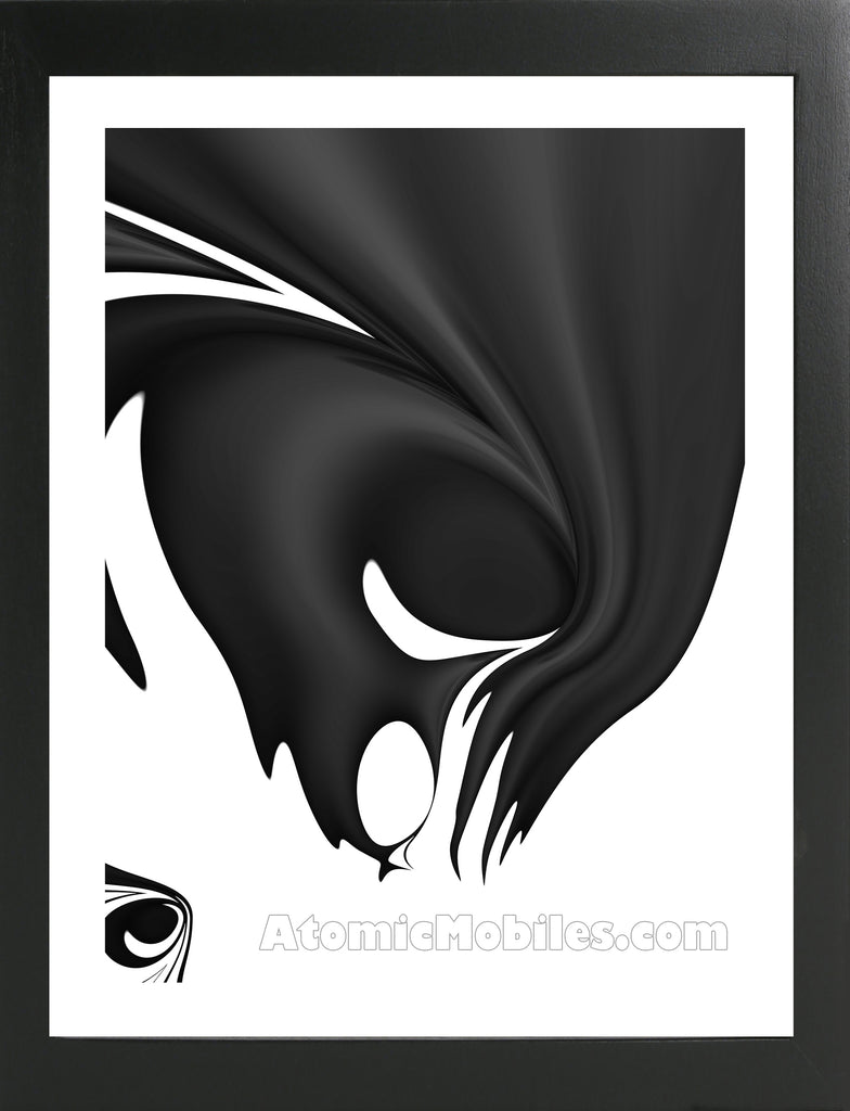 Atomic Print 33 - Bold Black And White Modern Abstract Art Giclee by AtomicMobiles.com