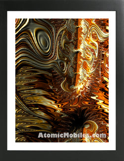 Atomic Art Print 35 - Modern Abstract Giclee by AtomicMobiles.com