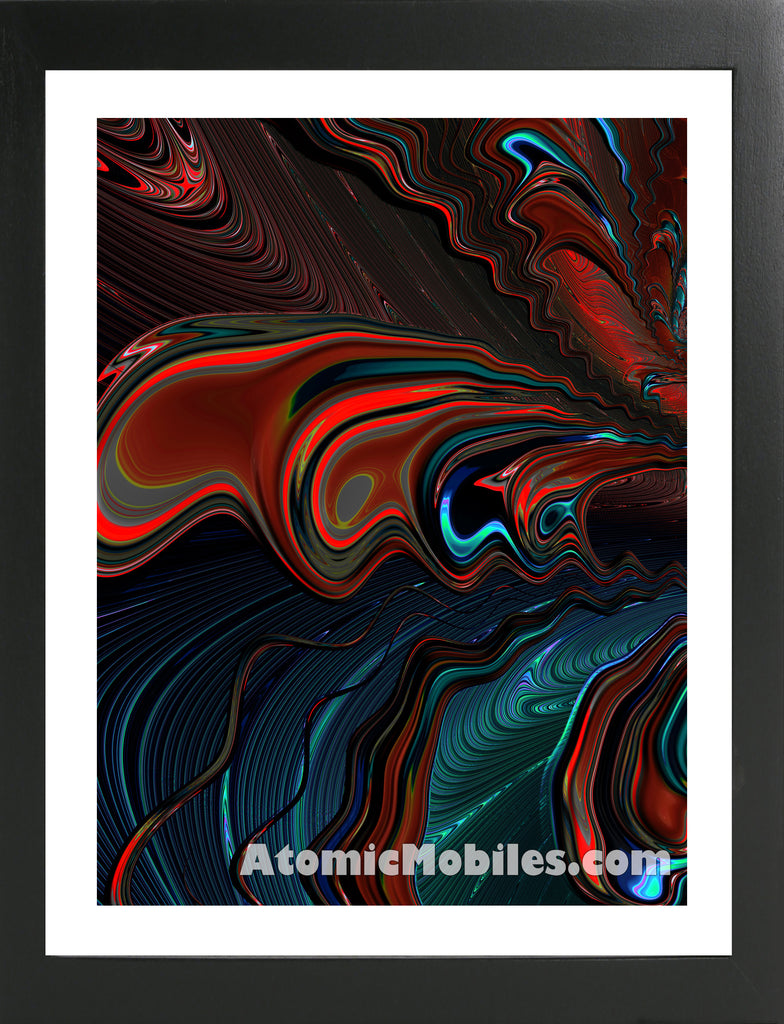 Atomic Print 52 - Bold Modern Abstract Art Giclee by AtomicMobiles.com