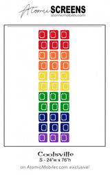 LGBTQ Rainbow Pride Coolsville Atomic Screens S Size - Midcentury Modern Room Dividers by AtomicMobiles.com