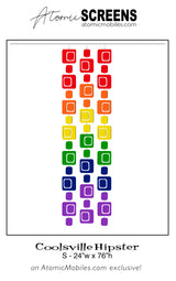 LGBTQ Rainbow Pride Coolsville Hipster Atomic Screens S Size - Midcentury Modern Room Dividers by AtomicMobiles.com