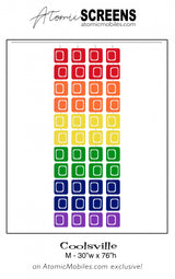 LGBTQ Rainbow Pride Coolsville Atomic Screens M Size - Midcentury Modern Room Dividers by AtomicMobiles.com