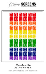 LGBTQ Rainbow Pride Coolsville Atomic Screens L Size - Midcentury Modern Room Dividers by AtomicMobiles.com