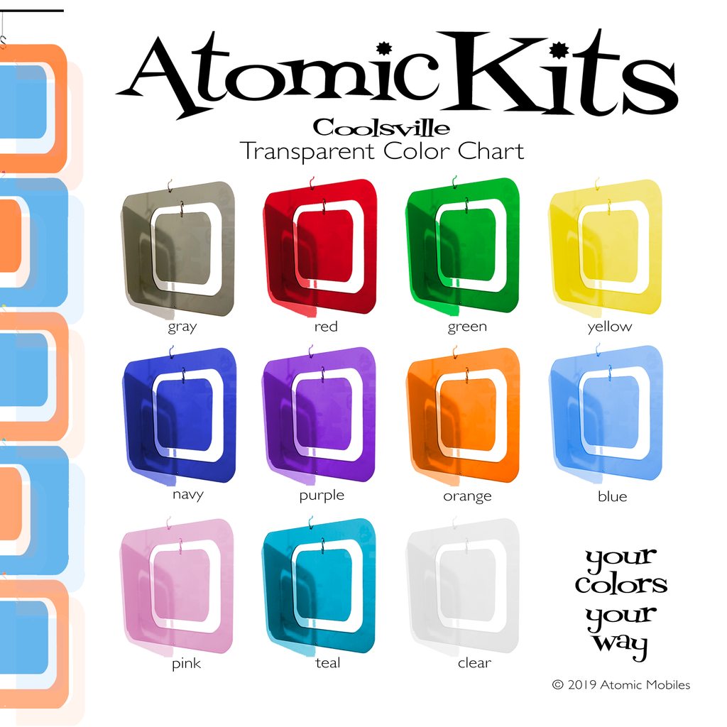 Coolsville Atomic Kits Transparent Color Chart by AtomicMobiles.com