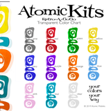 Retro-A-GoGo Beautiful Transparent Colors Chart by AtomicMobiles.com