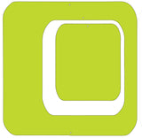 "Lime 6"" square set - Coolsville Modern Room Divider Screen Partition by AtomicMobiles.com"