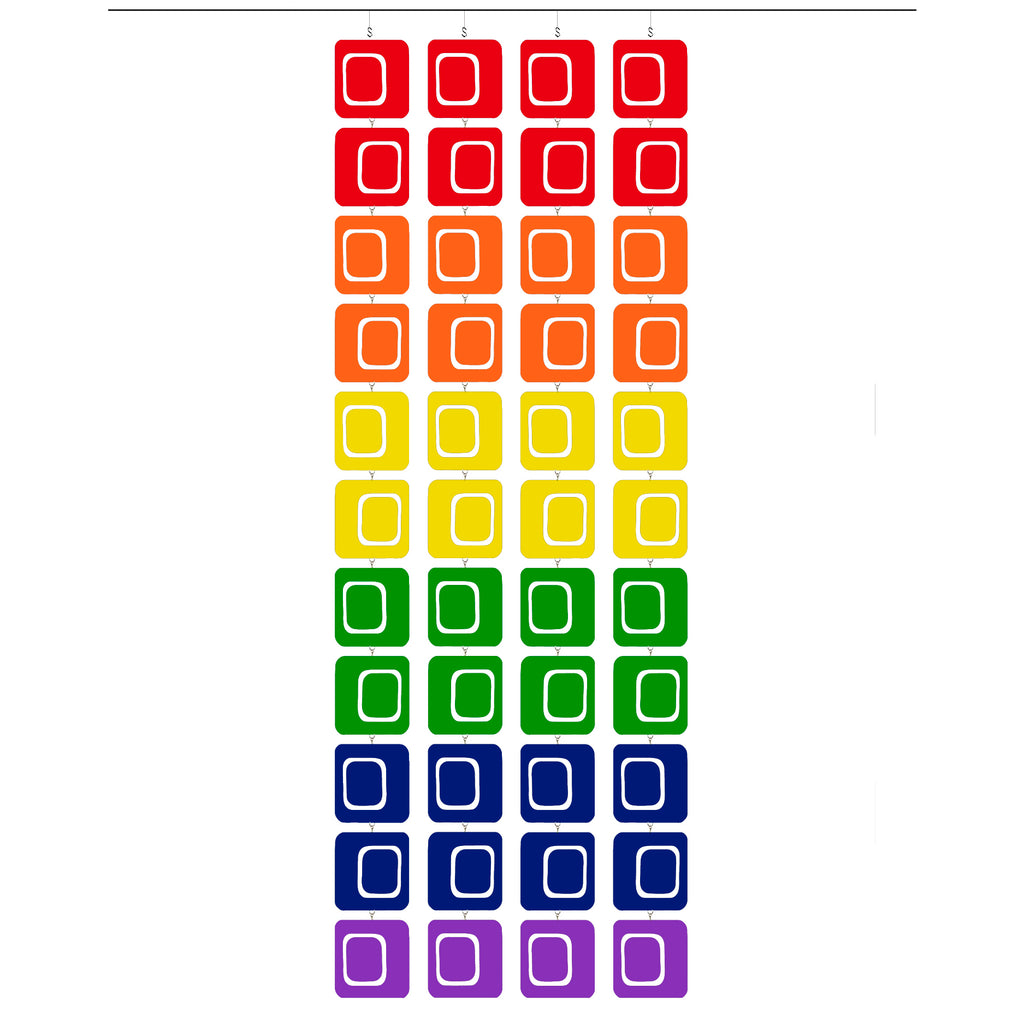 LGBTQ Rainbow Pride Coolsville Atomic Screens - Midcentury Modern Room Dividers by AtomicMobiles.com
