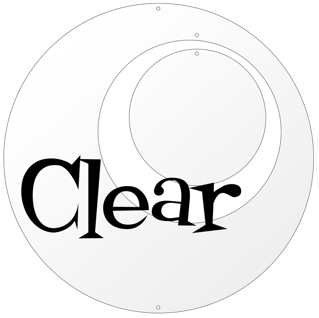 Clear Circle Set for Groovy Atomic Screens - Room Dividers, Partitions, Curtains, and Window Treatments by AtomicMobiles.com
