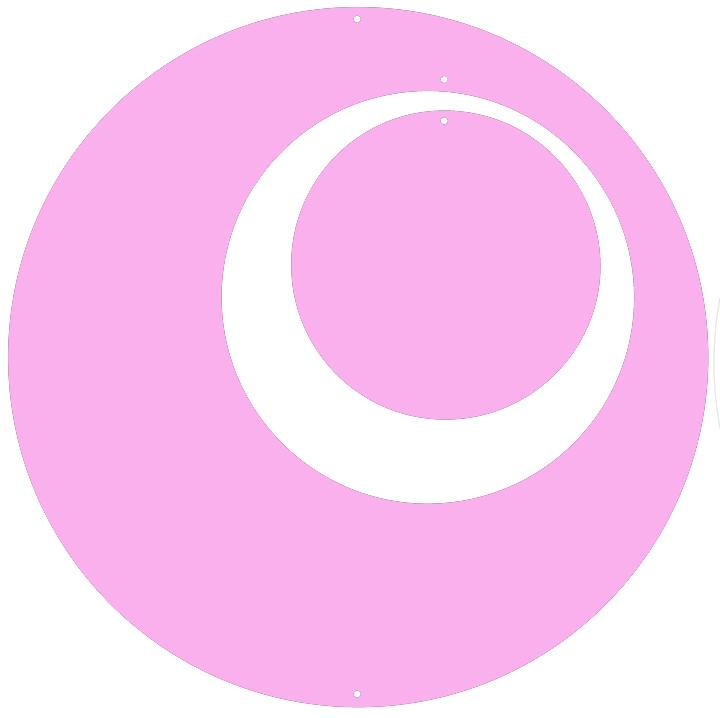 Pink Circle Set for Groovy Atomic Screens - Room Dividers, Partitions, Curtains, and Window Treatments by AtomicMobiles.com