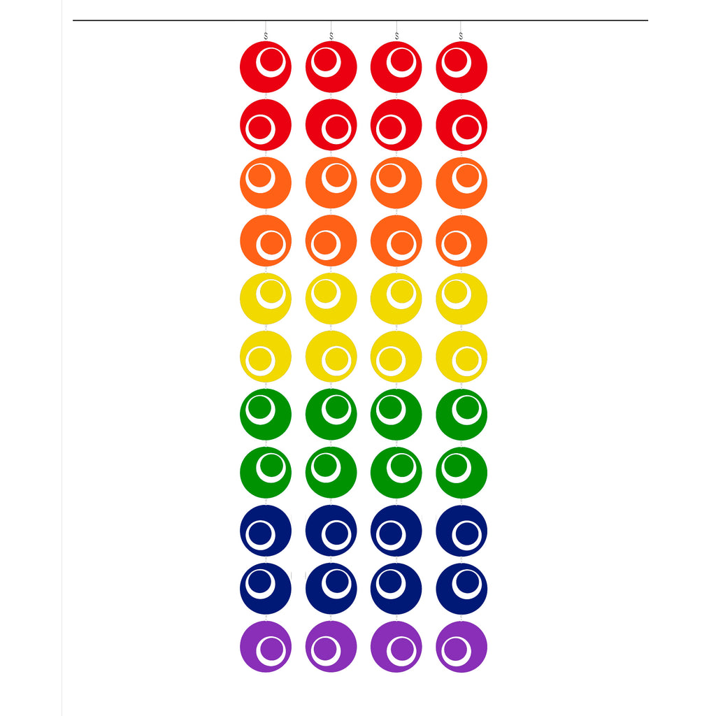 LGBTQ Rainbow Pride Groovy Atomic Screens - Midcentury Modern Room Dividers by AtomicMobiles.com