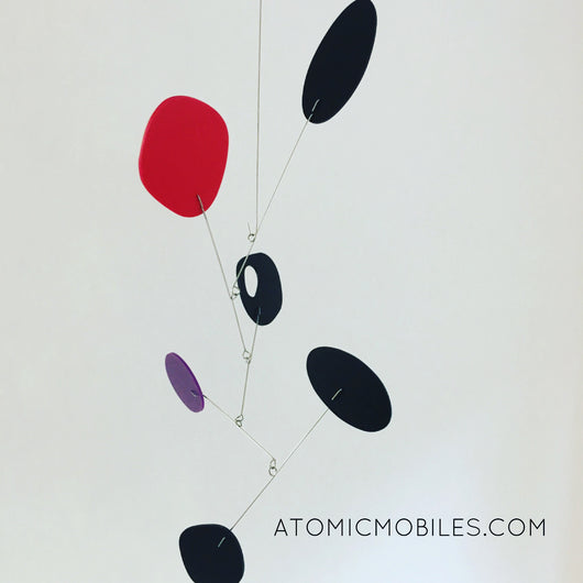 JetSet Red Purple Black Ready To Ship Modern Mobile Art by AtomicMobiles.com
