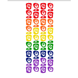 LGBTQ Rainbow Pride Retro-A-GoGO Atomic Screens - Midcentury Modern Room Dividers by AtomicMobiles.com