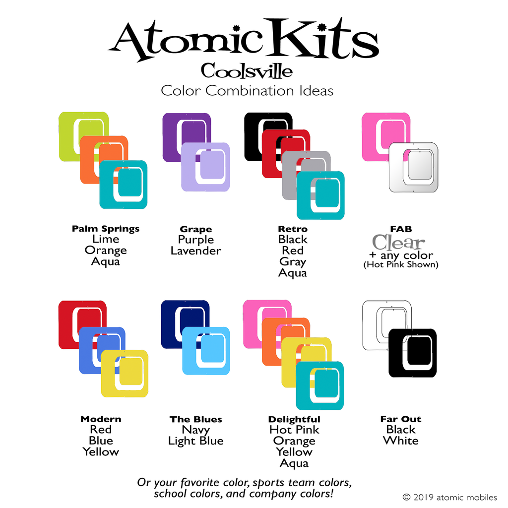 Coolsville Color Combination Ideas for Atomic Kits by AtomicMobiles.com