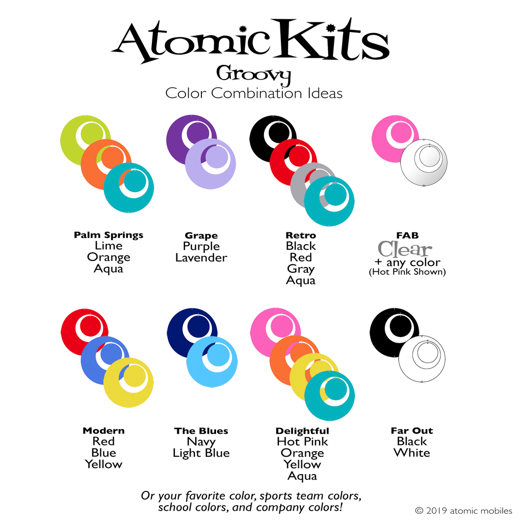 Groovy Color Combination Ideas for Atomic Kits by AtomicMobiles.com