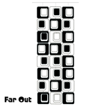 Large Coolsville Room Divider Screen Kit in Black and White by AtomicMobiles.com