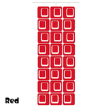 Large Coolsville Room Divider Screen Kit in Red by AtomicMobiles.com
