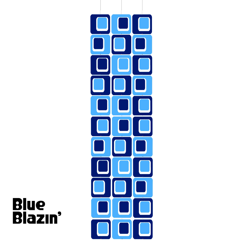 BLUE BLAZIN' Coolsville Atomic Room Dividing Screen Kit in Navy and Blue by AtomicMobiles.com